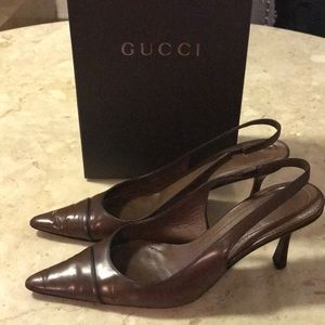 Gucci sling back heels w/Gucci box